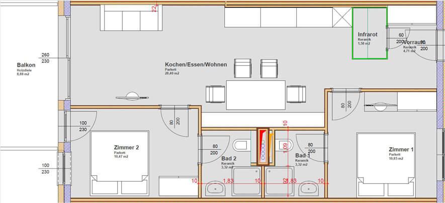 Apart 33 Grundriss Appartement